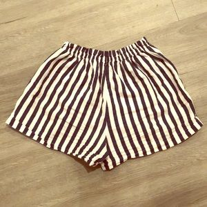 Navy and White Shorts (Size Small)